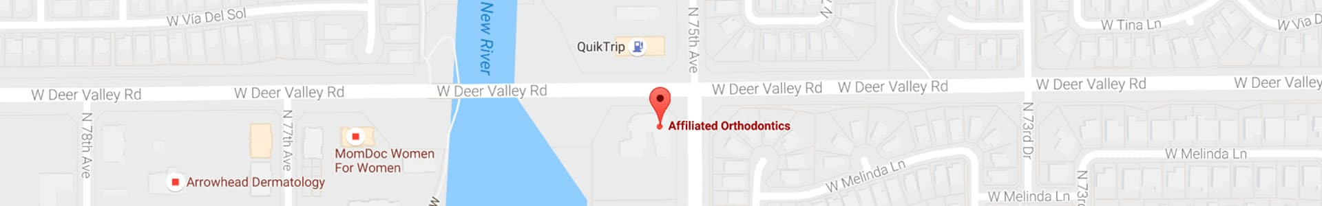 Affiliated Orthodontics Footer Map Graphic Affiliated Orthodontics Peoria AZ